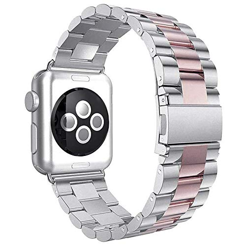 Apple Watch armband 42 mm, Urhenarmband Apple Watch Series 3 dames zwart iWatch 42mm Smartwatch reserveband roestvrij staal armbanden Apple Watch Nike