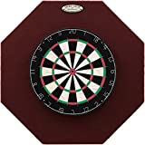 Dart-Stop 29 inch Burgundy Octagon Pro Dart Board Backboard | Wall Protector | Dartboard Surround