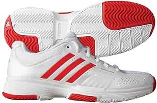 Adidas Women's Adipower Barricade Tennis Shoes (White/Red/Silver) (10 B(M) US)