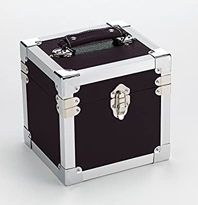 Steepletone SRB07GL CD and 7-Inch Vinyl Singles Retro Style Storage Carry Case (Black)