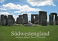 Suedwestengland (Wandkalender 2022 DIN A3 quer): Eine Reise durch Suedwestengland (Monatskalender, 14 Seiten )