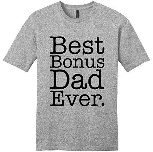 Stepdad Shirt Step Dad Best Bonus Dad Ever Young Mens T-Shirt 2XL LtHtr Light Heather