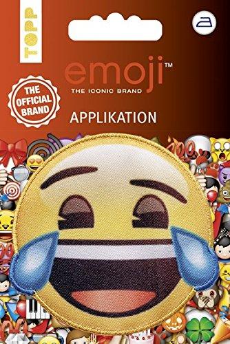 Emoji Applikation Lachen mit Tränen: Applikation zum Aufbügeln