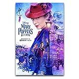 WPQL Póster de película de Mary Poppins para habitación de hotel, 30 x 45 cm