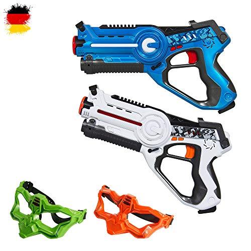 HSP Himoto Laser-Tag Pistole als Battle-Set mit 2X Pistole und 2X Masken für spannende Duelle,...