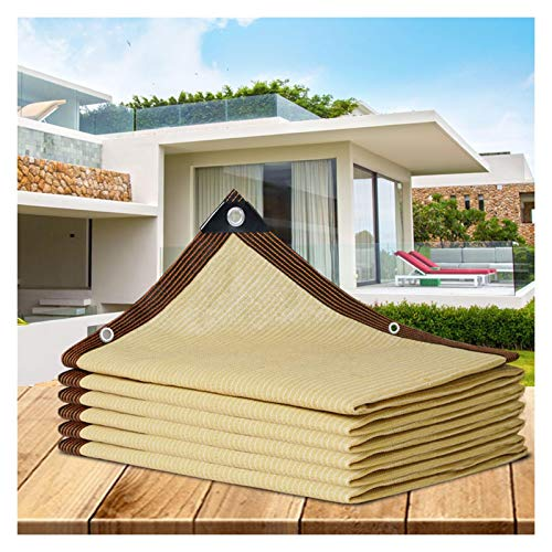 GHHZZQ Paño de Sombra Bloqueador Solar Red de Sombra, Engrosamiento de Cifrado Protección UV Vela de Sombra Solar por Patio/Gazebo, Beige, Varios Tamaños (Color : Beige, Size : 2x3m)