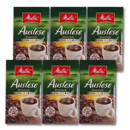 Melitta Auslese Klassisch Mild Filterkaffee 6 x 500g (3000g) - Melitta Café gemahlen