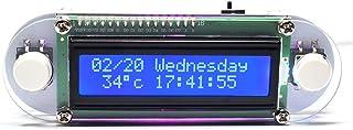Tykeed Candlelight Effect LCD1602 Vibration Clock DIY Kit DIY Electronic Digital Clock DIY Clock Set Digital LED Electronic Clock DIY Kits Set