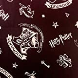 Harry Potter Baumwollstoff mit Hogwarts-Emblem auf