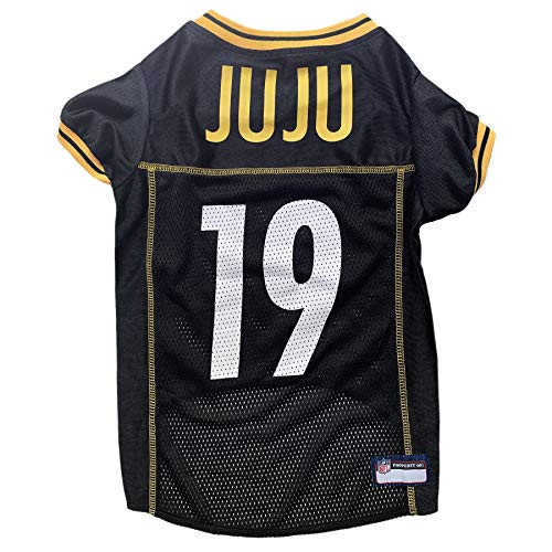 NFL Pittsburgh Steelers Pet Jersey NFLPA Juju Smith-Schuster Jersey for Dogs & Cats, X-Large