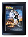 HWC Trading A3 FR Back to the Future Movie Poster Cast Signed Gift FRAMED A3 Printed Autograph Christopher Lloyd Michael J Fox Gifts Print Photo Picture Display