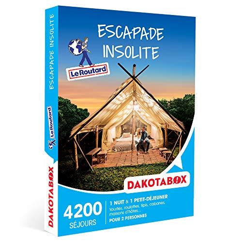 DAKOTABOX - Escapade insolite - Coffret Cadeau Séjour - 1 nuit insolite avec petit-déjeuner pour 2 personnes