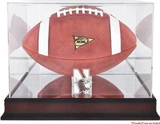 Mounted Memories Northwestern Wildcats Mahogany Logo Football Display Case with Mirror Back