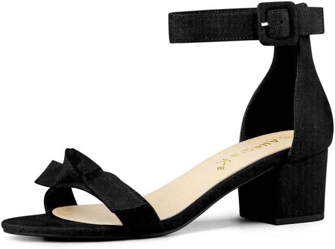 Many popular brands Allegra K Women's Girls Beauty products Open Toe Block Heel Strap Ankle Sandals