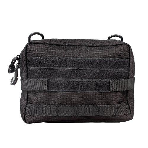 Sistema MOLLE, Admin Gadget utilidad negro táctico Extra grande mochila cinturón cámara EDC de primeros auxilios para chaleco Nylon organizador rápido