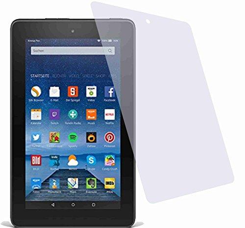 4ProTec I 2x Crystal clear klar Schutzfolie für Amazon Fire Tablet 17,7 cm (7 Zoll) 5. Generation Modell 2015 Premium Bildschirmschutzfolie Displayschutzfolie Schutzhülle Bildschirmschutz Bildschirmfolie Folie