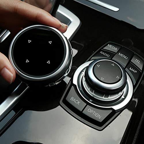 Ersatz-Knopfabdeckung für B-MW F10 F20 F30 IDrive Auto Multimedia Big Knob Cover Trim Control (A)