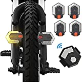 Aiguozer Bike Tail Light with Turn Signals, USB Rechargeable Bright LED Safety Warning Bike Rear Lights, Wireless Remote Control Waterproof Bike Turn Signal LED Light for Mountain Bike, Road Bicycle