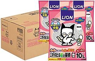 ライオン (LION) ニオイをとる砂 ニオイをとる紙の猫砂 10L×3袋 (ケース販売)