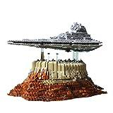 BAXT Maqueta de destructor de estrellas, Mould King 21007, 5162 bloques de construcción grandes UCS Star Destroyer Empire Over Jedha City, bloques de construcción compatibles con Lego Star Wars