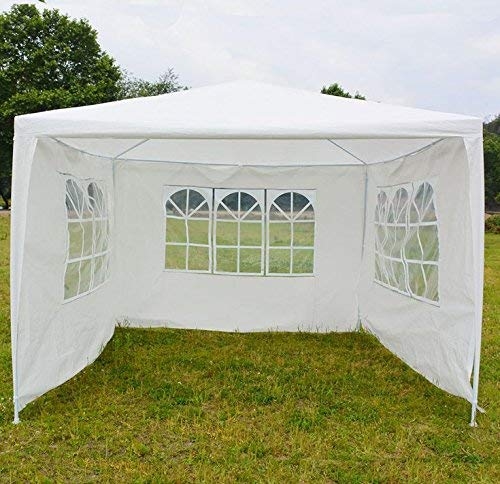 Party Gazebo, Heavy Duty 3x4 m with Removeble Side Walls, FULLY WATERPROOF Gazebo Wedding Marqee Tent Canopy for Outsides Garden Camping Beach Wedding Easy to Assemble