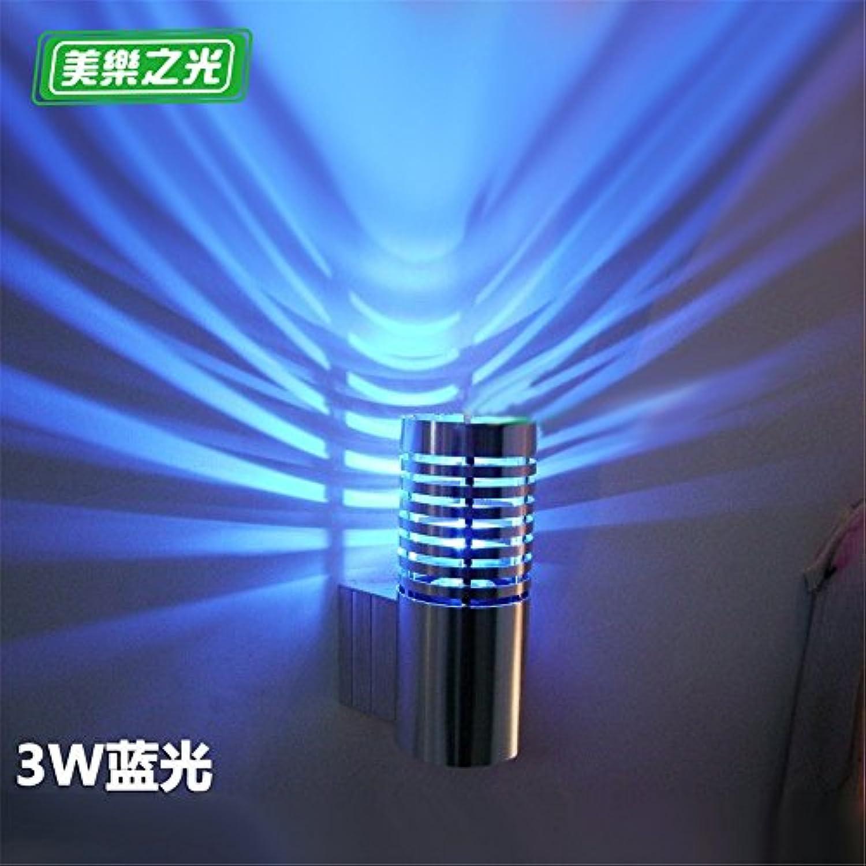 Modern LED Wandleuchte Led wandleuchte kreative schlafzimmer nachttischlampe wohnzimmer gang flur balkon aluminium wandleuchte hoch 14 cm durchmesser 6,8 cm weg von der wand 9 cm blaues licht