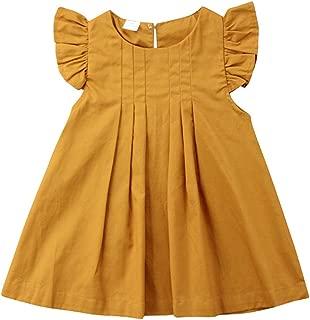 Toddler Baby Girls Cotton Tunic Dress Swing Casual Sundress Age 1-5