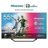 Hisense UHD TV 2020 55AE7400F - Smart TV 55' Resolución 4K, Dolby Vision, Wide Color Gamut, Audio DTS Virtual-X, Ultra Dimming, Vidaa U 4.0, Compatible Alexa