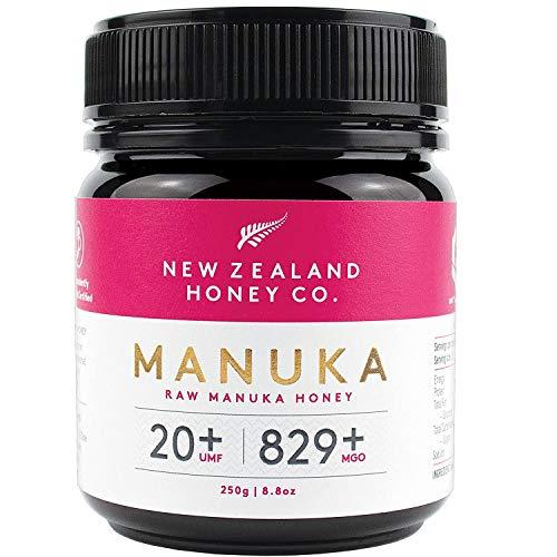 New Zealand Honey Co. Manuka Honig MGO 829+ / UMF 20+ | Aktiv und Roh | Hergestellt in Neuseeland | 250g