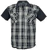 Eskimo Callboy MC Thunder Hombre Camisa Manga Corta Negro/Gris XL, 100% algodón, Regular