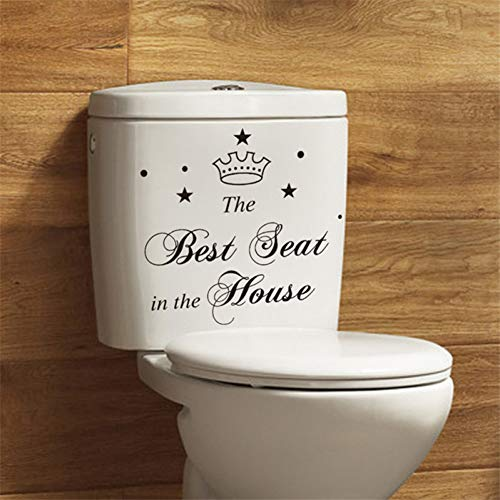 YCEOT Muursticker Verwijderbare toiletbril Sticker Decals DIY Vinyl Art Muurstickers Badkamer Sticker Hot Sale Personages De Beste Stoel Toilet Sticker