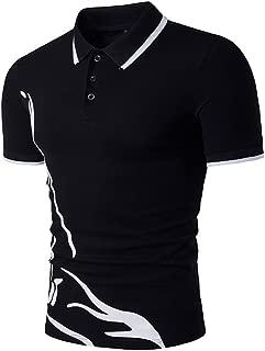 Sale!Summer Men's Reindeer Print Golf Polo Shirt Top Short Sleeve,Gentleman Handsome Style