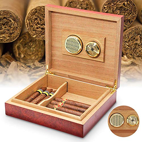 Sue-Supply Sigarendoos Hygrometer Rond Metaal Analoog Speciale Hygrometer 50mm Diameter voor Sigarenvochtige Kasten Gitaar Viool Sigarendoos
