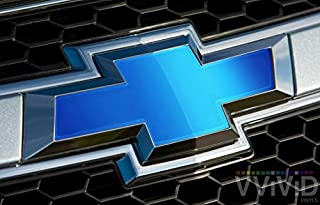 VViViD Blue Matte Metallic Auto Emblem Vinyl Wrap Overlay Cut-Your-Own Decal for Chevy Bowtie 11.80 Inch x 4 Inch Sheets (x2)