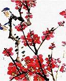 WYLUWLI flor pintura acrílica DIY pintura digital sobre lienzo kit de pintura decoración del hogar regalo sin marco 40x50cm