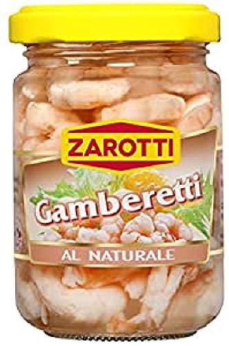 Zarotti Gamberetti al Naturale Vaso 140 gr(Confezione da 8) - 1.98 kg