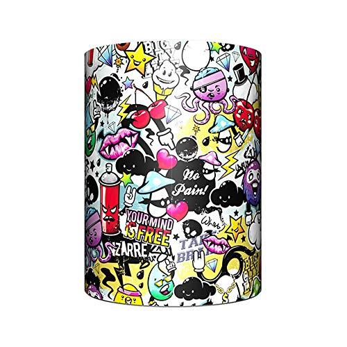 FWRSR 3D Color Printing Graffiti Bluetooth Altavoz inalámbrico portátil Mini Altavoz estéreo Música Envolvente Altavoces Manos Libres Mejor Regalo Creativo,J