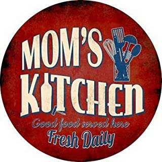 Losea Mom's Kitchen Retro Vintage Tin Sign Country Home Wall Decor Signs Gifts Decoration 12X12Inch