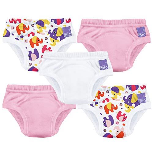 Bambino Mio, pañal de aprendizaje, niña mixto elefante rosa, 18-24 meses, pack de 5