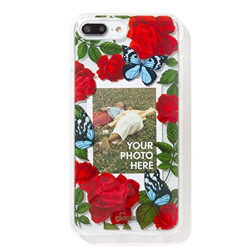 Sonix Butterfly Photo Frame Cell Phone Case [Military Drop Test Certified] Protective Clear Polaroid Picture Case Series for Apple iPhone 6 Plus, iPhone 7 Plus, iPhone 8 Plus