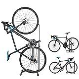 GORIX(ゴリックス) 自転車 スタンド [縦置き 横置き 掛置き 3タイプ] メンテナンス 簡易スタンド (ホイール&ステースタンド) HS-013D (ブラック(ムービングウォーク))