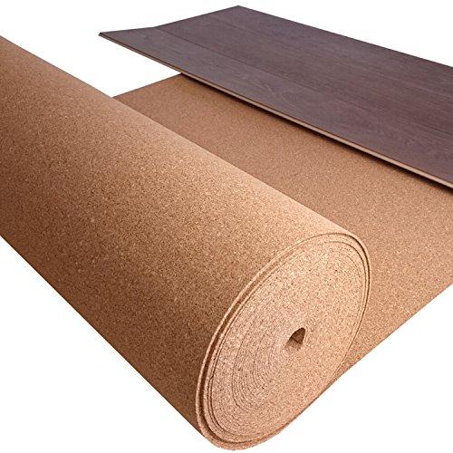 TRECOR® Kork Trittschalldämmung Rollenkork, Trittschallkork - Stärke 2 mm - Dichte: 200 kg/m³ - 30 m² Rolle - DAS ORIGINAL (30 m²)