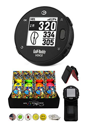 Best Prices! Golf Buddy Voice X Golf GPS/Rangefinder Bundle with 1 Dozen Saintnine Golf Balls, 1 Bel...