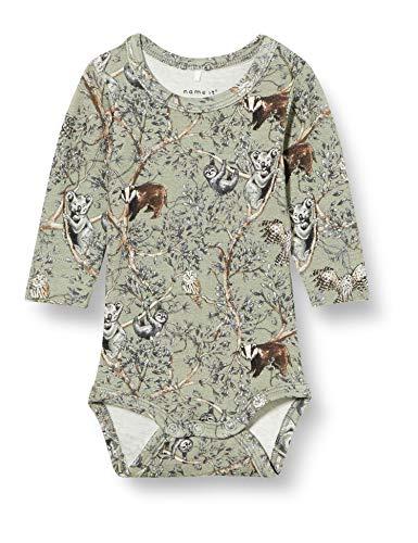 NAME IT Baby-Jungen NBMFIXO LS Body Unterhemd, Wrought Iron, 68