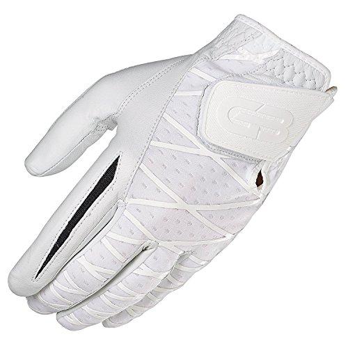 GRIP BOOST Herren Hand-Golfhandschuh Cabretta-Leder Schafsleder rutschfeste Golfhandschuhe, Herren, Left, weiß, Large