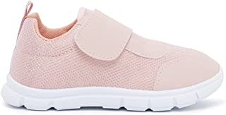Textured Walking Shoes with Hook and Loop Closure