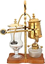 Siphon kaffebryggare alkohol lampa handgjord kaffebryggare äkta kaffebryggare belgiska stöd apparater,Gold