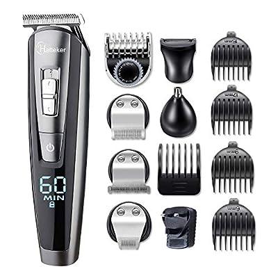 HATTEKER Beard Trimmer for Men Cordless Hair Trimmer Clipper Mustache Trimmer Body Groomer Kit Precision Trimmer Nose Trimmer Waterproof USB Rechargeable 5 in 1 by Hatteker