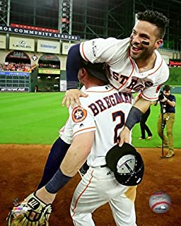Alex Bregman & Jose Altuve Houston Astros ALCS Action Photo (Size: 8
