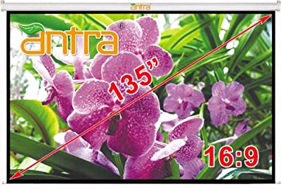 Antra Electric Motorized Projector Projection Screen Low Noise Tubular Motor